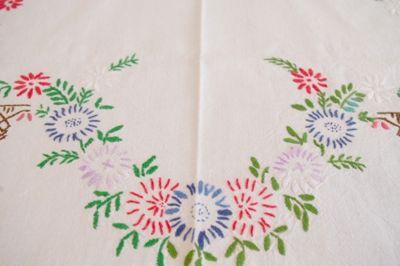 ドイツ 刺繍 東欧 ハンドメイド 布