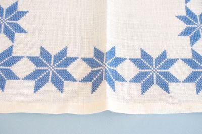 スウェーデン 北欧 ヴィンテージ クロス 布 刺繍 織物 ハンドメイド