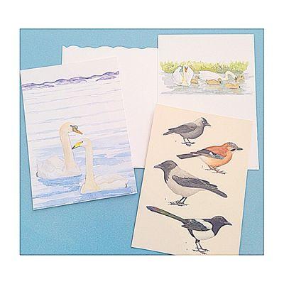 スウェーデン 紙もの カード 鳥
