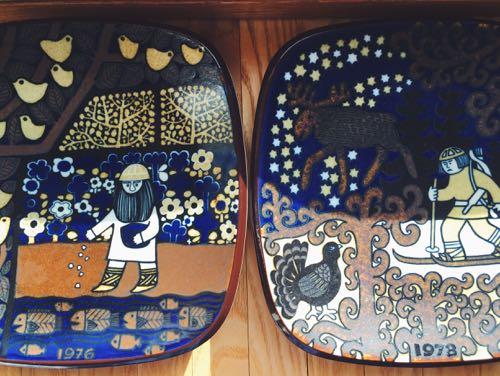 北欧雑貨 フィンランド 買い付け 蚤の市 雑貨屋 カフェ 東京 下高井戸 ヴィンテージ雑貨 アラビア ヘルシンキ ARABIA イヤープレート カレワラ 通販